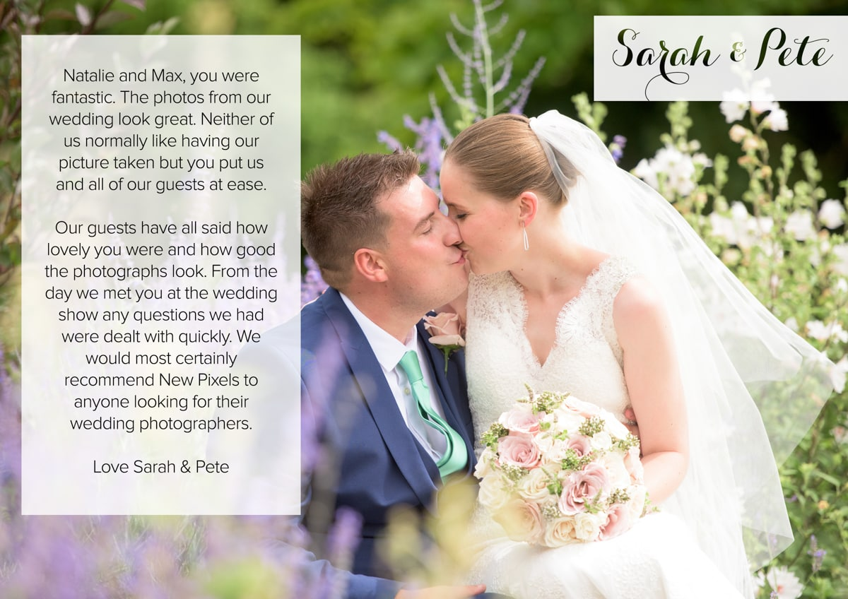 Testimonial Herts Wedding Photography