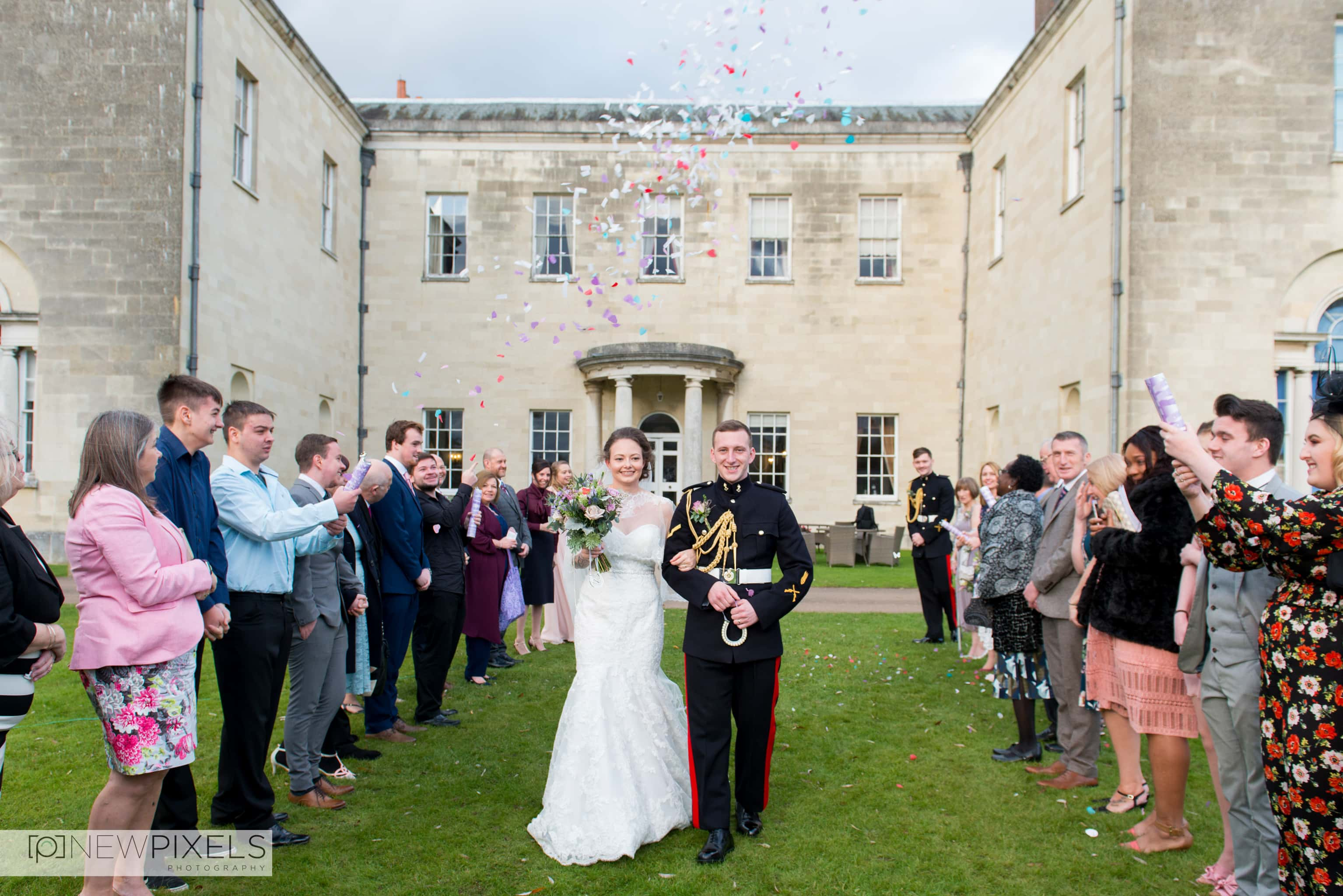 Confetti Shots at Hitchin Priory Wedding Photography