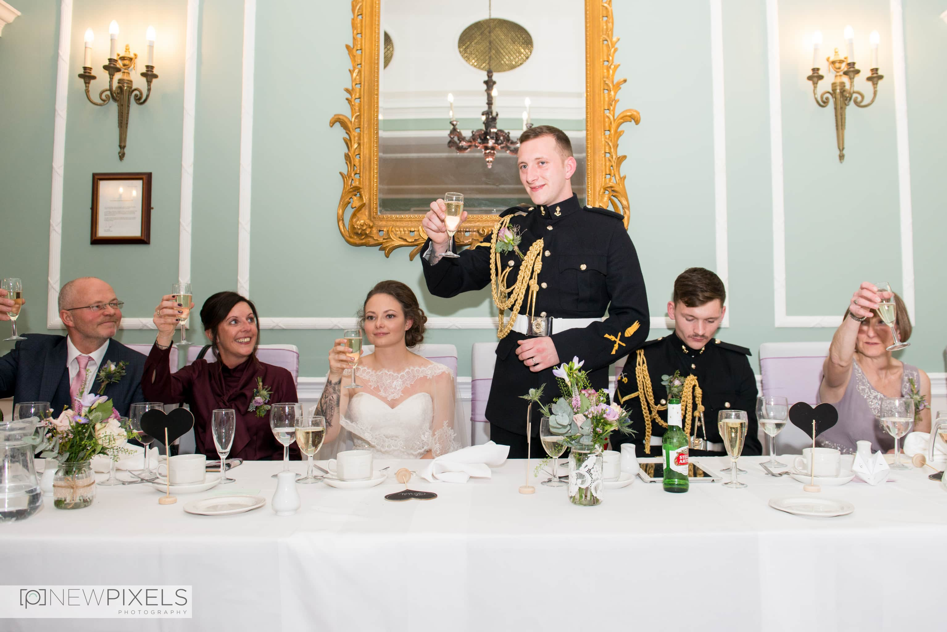 Speeches at Hitchin Priory Wedding Photography