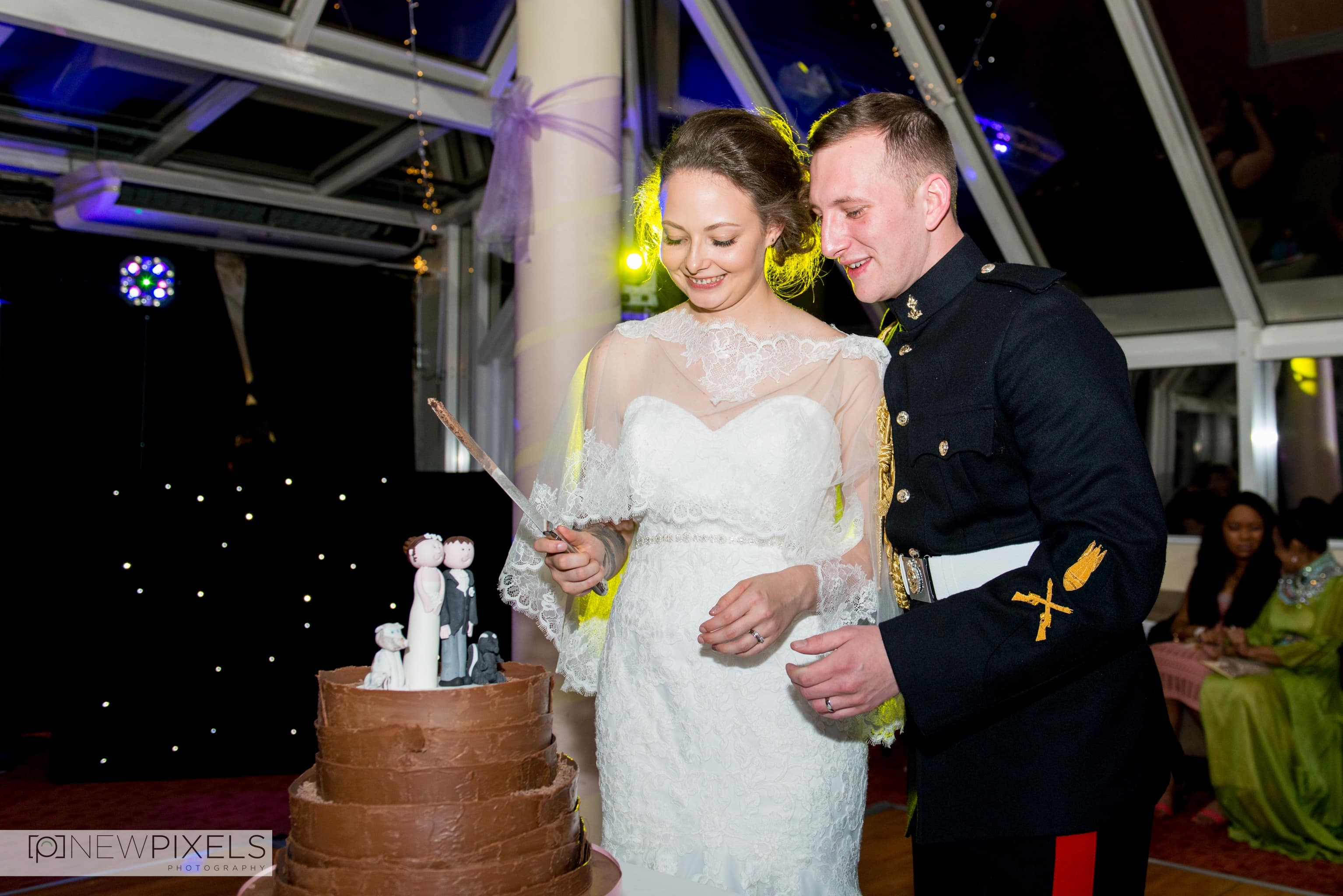 Cutting of the cake Ceremony at Hitchin Priory Wedding Photography