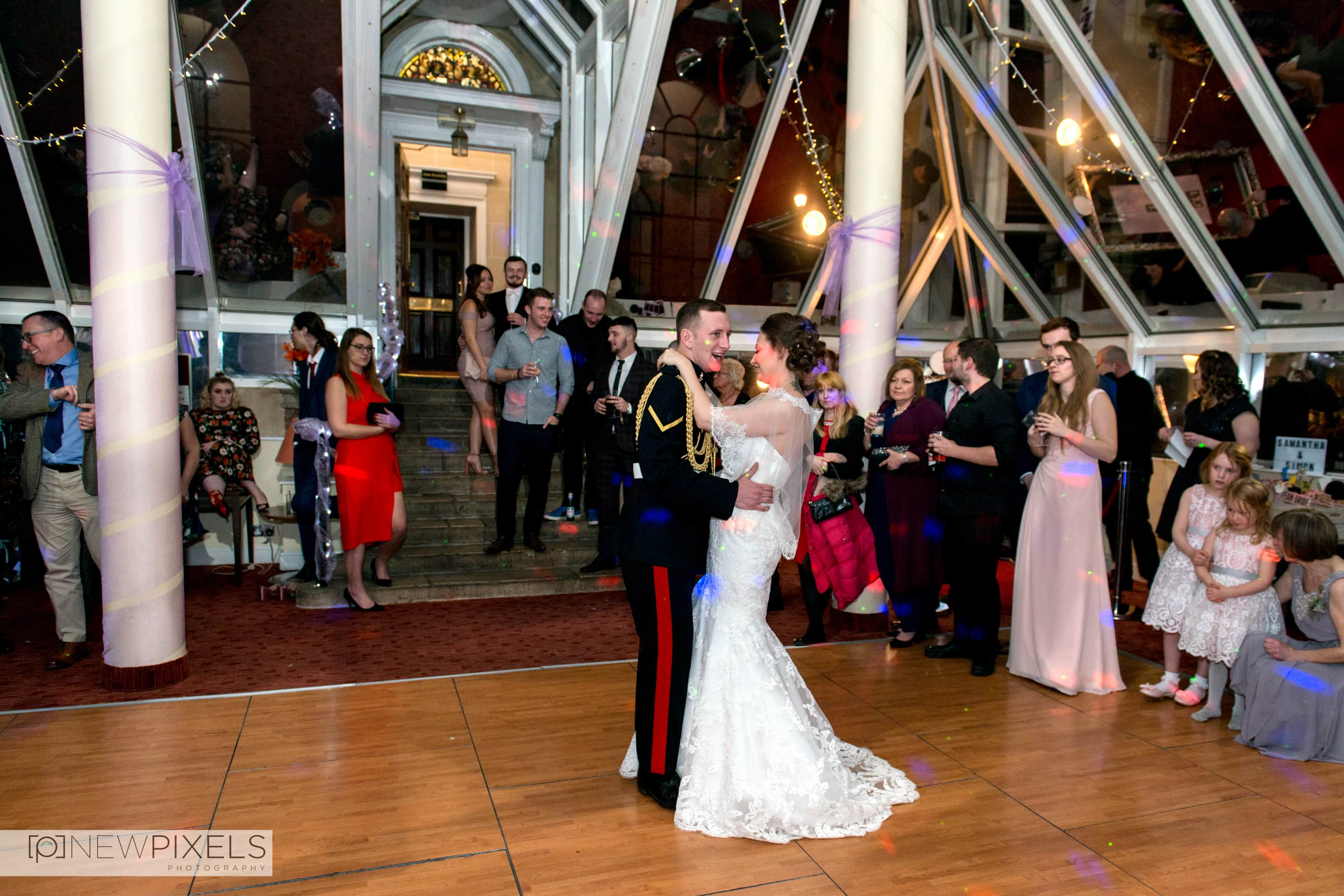 First Dance Ceremony at Hitchin Priory Wedding Photography