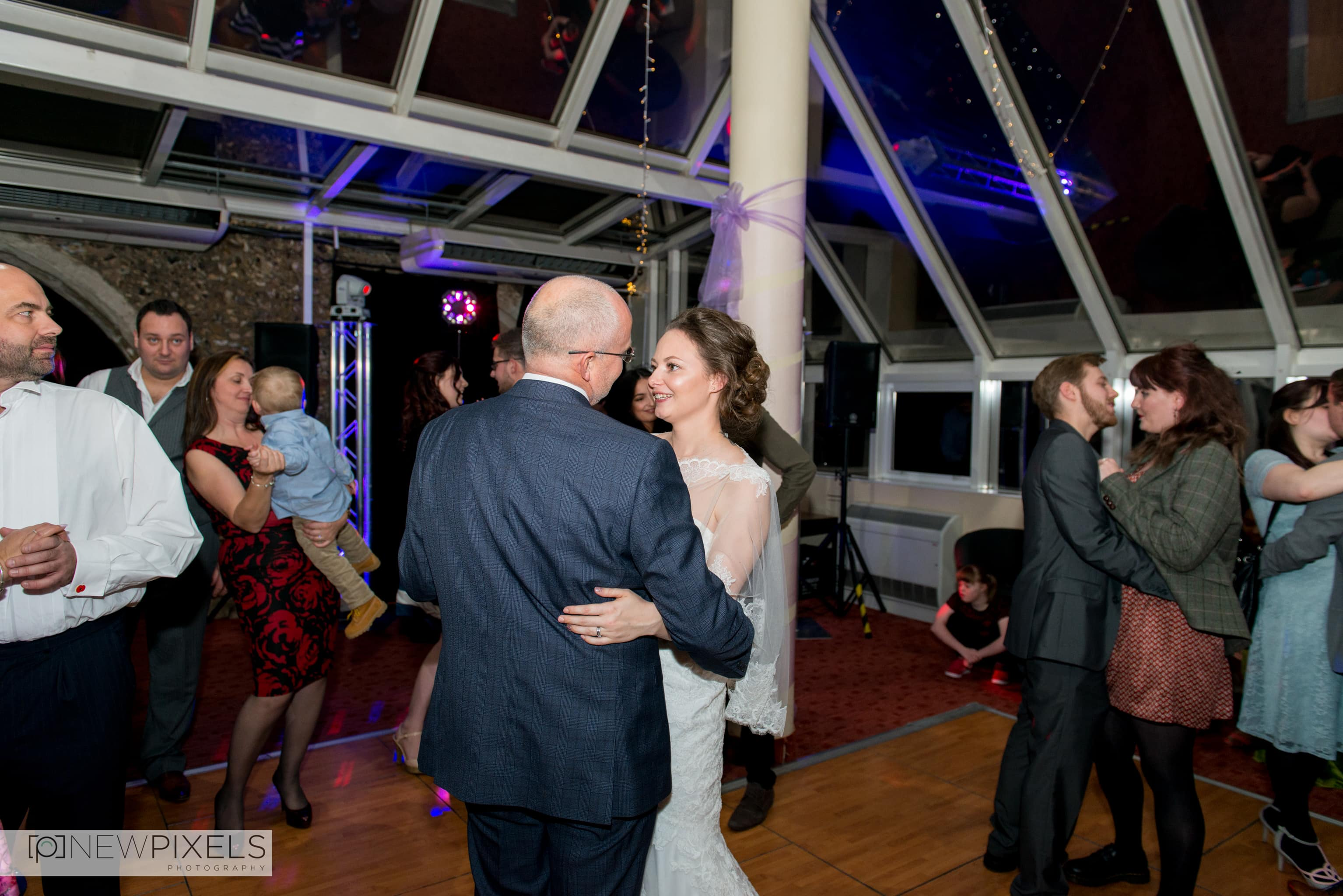 Father Daughter Dance Ceremony at Hitchin Priory Wedding Photography
