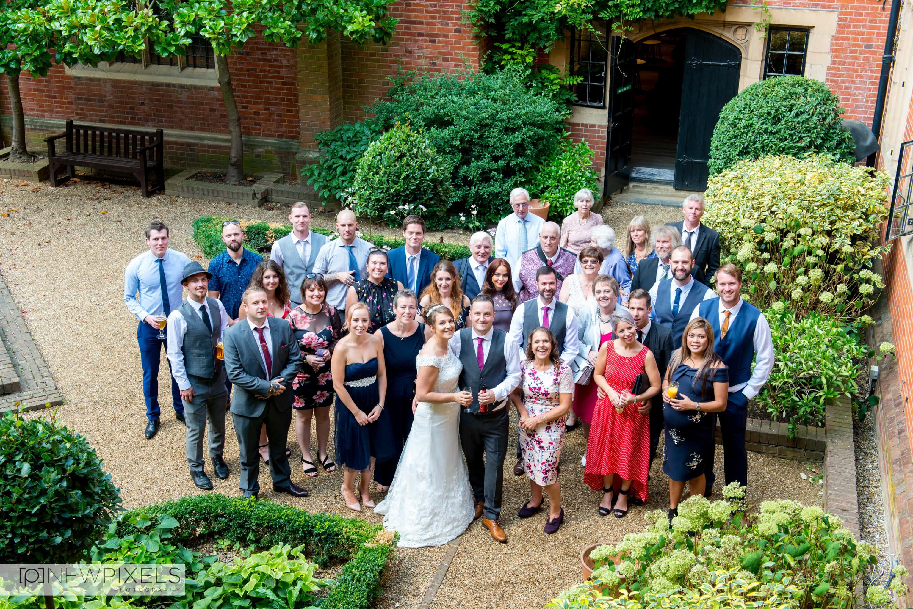 Banbury Manor group shot Wedding Photographs