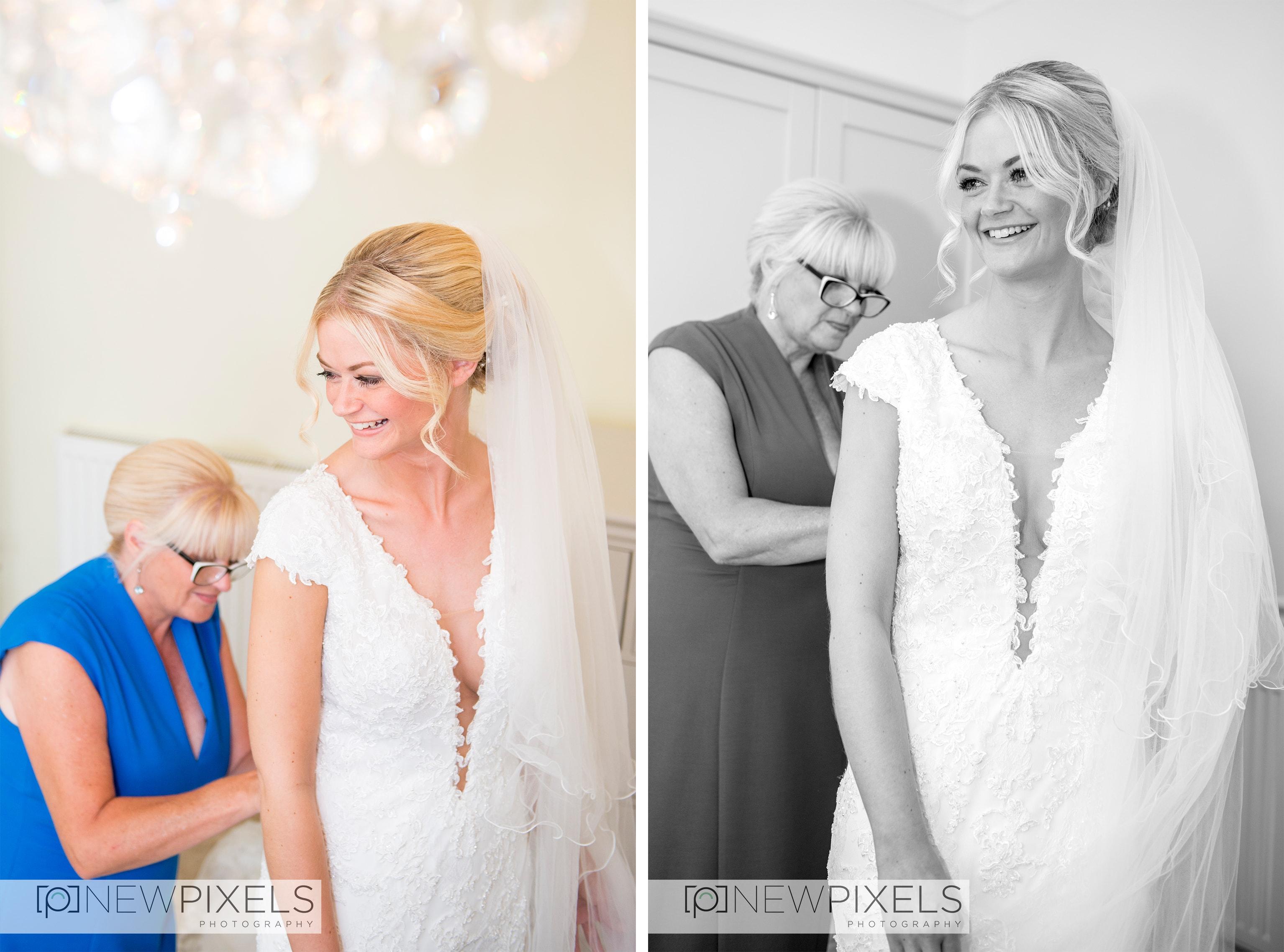 bridal prep wedding photographer hertfordshire