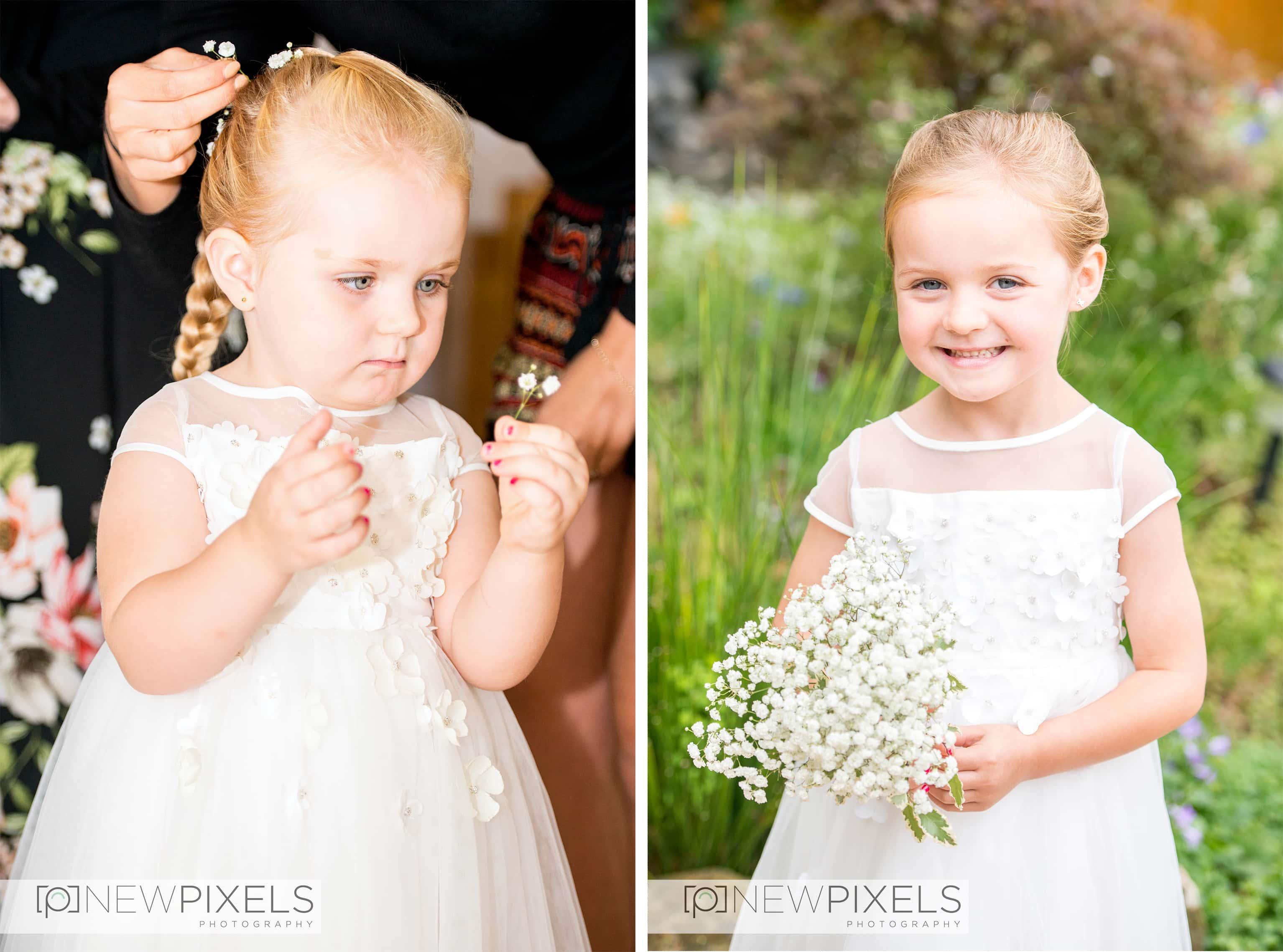 flower girls wedding photographer hertfordshire
